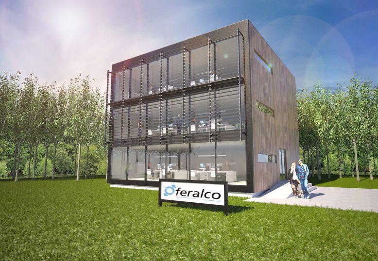 Artist impressie nieuwbouw kantoor
